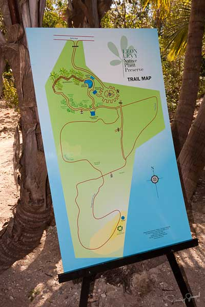 Eleuthera Native Plant Preserve Trail Map