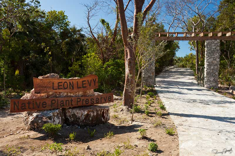 Entrance to Leon Levy Native Plant Preserve near Governor's Harbour, Eleuthera Island
