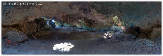 Preachers Cave Eleuthera - middle interior panoramic photograph