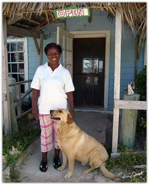 Rose Gibson, proprietor of Northside Inn and Restaurant, Eleuthera