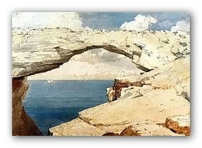 Painting of Glass Window Bridge by Winslow Homer