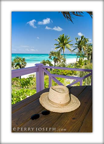 Picture of beach dining, Palmetto Point, Eleuthera