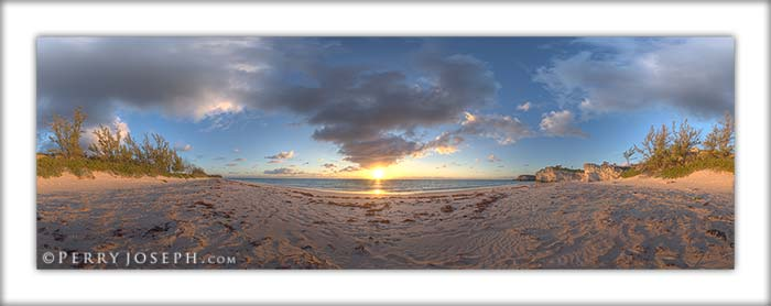 Panoramic Picture of Lighthouse Beach on Eleuthera